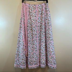 Chessa Davis- Vntg 70's Boho Maxi Skirt